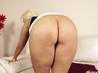Ass, Blonde, Bold, Boots, Chubby, Flashing, HD, MILF, Miniskirt, Panties,