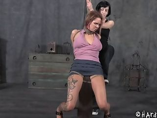BDSM, Bondage, Femdom, Fetish, Gagging, Juicy, Redhead, Rough, Small Tits, Submissive,