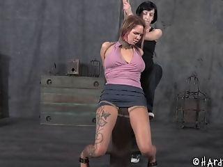 BDSM, Bondage, Femdom, Fetish, Gagging, Juicy, Redhead, Rough, Small Tits, Submissive,