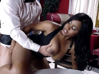 Babe, Big Tits, Black, Blowjob, Bottle, Cum In Mouth, Cum Swallowing, Cumshot, Footjob, HD,