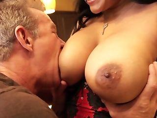 Big Tits, Bold, Brunette, Couple, Cowgirl, Desk, Doggystyle, Fake Tits, Fingering, Fucking,