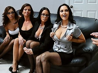 Ava Addams, Big Tits, Blowjob, British, Brunette, Francesca Le, French, Game, Group Sex, HD,