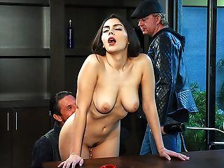 Anal Sex, Ass, Ass Licking, Big Natural Tits, Big Tits, Brunette, Cop, Cute, Doggystyle, Natural Tits,
