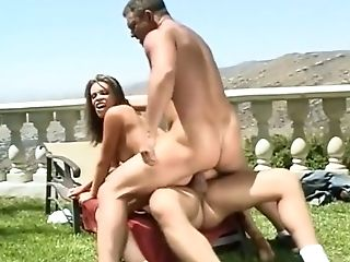 Anal Sex, Aurora Snow, Blonde, Brunette, Double Penetration, Exotic, Gia Paloma, Group Sex, Outdoor, Pornstar,