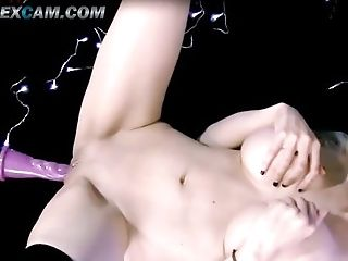 Amateur, Babe, Big Tits, Blonde, Bold, Caucasian, College, Fetish, Fucking Machine, HD,