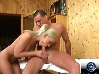 Blonde, Blowjob, Boobless, Veronica Carso, Wet,