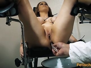 Babe, BDSM, Big Tits, Brunette, Doctor, Fetish, HD, MILF, Sex Toys, Threesome,