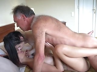 Cum, FFM, Missionary, Old And Young, Petite, Teen, Teen Pussy, Threesome,