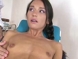 BDSM, Bold, Bondage, Boobless, Brunette, Choking Sex, Clinic, Couple, Doctor, Domination,