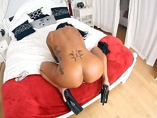 Angelina Valentine, Ass, Big Ass, Black, Boots, Brunette, Doggystyle, HD, Mature, MILF,