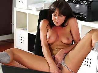 Ass, Big Natural Tits, Brunette, Fingering, Jerking, Natural Tits, Panties, Piercing, Pussy, Sex Toys,