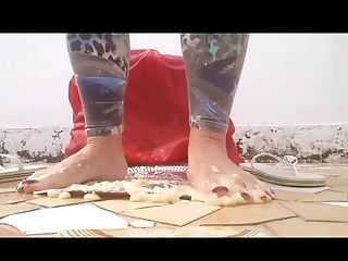 Foot Fetish, HD, Trampling, Vegetables,