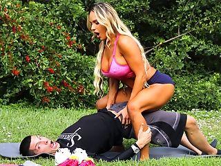 Babe, Big Tits, MILF, Muscular, Outdoor, Pornstar, Reality, Sport, Yoga,