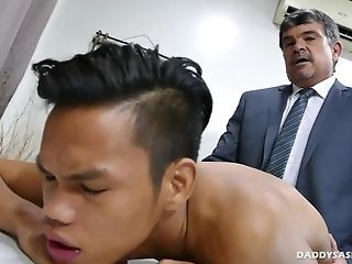 Asian, Bareback, Boy, Daddies, Ethnic, HD, Interracial, Old And Young,