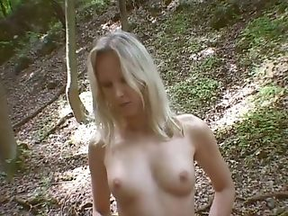 Dame, Schoonheid, Blond, Tietloos, Horny, Outdoor, Klein, Sexy, Slut, Solo,