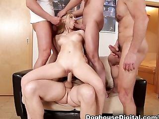 Amazing, Anal Sex, Big Tits, Blonde, Gangbang, Mira Sunset, Pornstar,