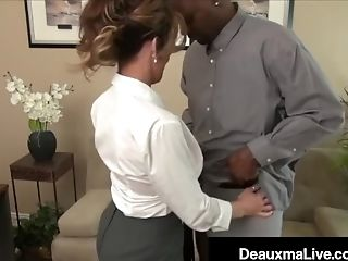 Babe, Big Black Cock, Big Cock, Big Tits, Blowjob, Boss, Cougar, Deauxma, HD, Interracial,