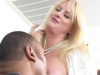 Bethany Sweet, Big Tits, Blonde, Facial, Fishnet, Horny, Interracial, Pornstar,