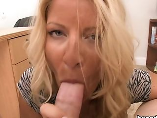 Big Tits, Blonde, Blowjob, Facial, Handjob, HD, MILF, Natural Tits, Naughty, Office,