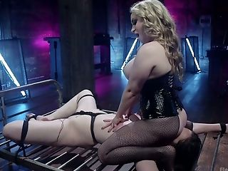 Aiden Starr, Ass, BDSM, Blonde, Bondage, Boobless, Boots, Brunette, Femdom, Fishnet,