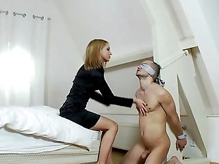 BDSM, Blonde, Femdom, Fetish, Foot Fetish, Licking, Shoe, Submissive, Young,