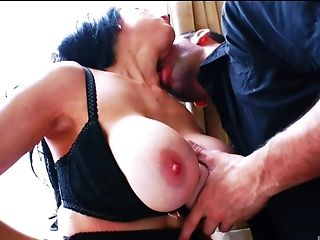 Big Cock, Big Tits, Blowjob, Bra, Brunette, Choking Sex, Couple, Dick, Fake Tits, Hardcore,