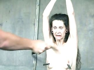 BDSM, Bondage, Boobless, Brunette, Femdom, Lesbian, Mature, Mistress, Nipples, Pain,