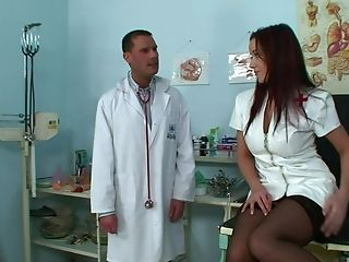 Cindy Dollar, Couple, Cute, Doctor, Horny, Nurse, Tight Pussy, Uniform,