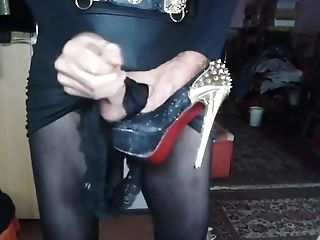 Crossdressing, Cum, High Heels,