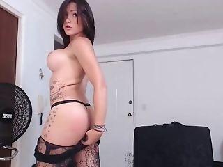 Beauté, Colombiens , Homme Efféminé , Masturbation, Transexuelle , En Solo, Webcam,