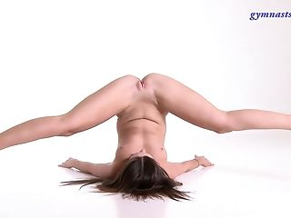 Babe, BBW, Brunette, Curvy, Flexible, Long Hair, Model, Natural Tits, Russian, Shaved Pussy,