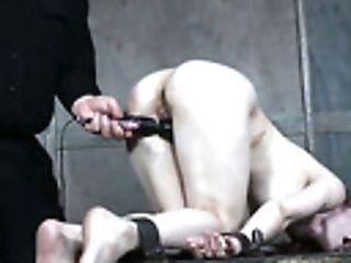 BDSM, Bondage, Boobless, Fingering, Hairy, Moaning, Punishment, Pussy, Redhead, Sex Toys,