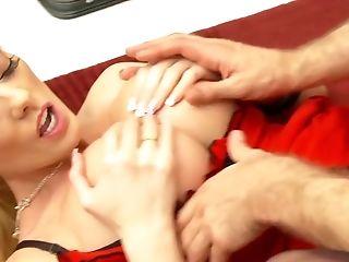 Amazing, Antonia Deona, Big Tits, Blonde, European, Facial, Fishnet, HD, Lingerie, Pornstar,