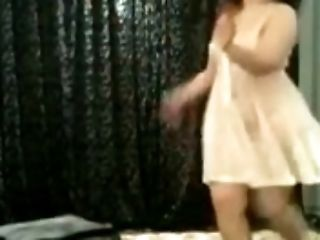 Chubby, Dancing, Dress, Egyptian, Girlfriend, Seduction, Solo, White,