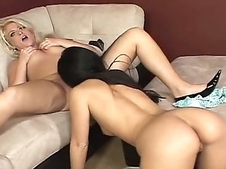 Beauty, Blonde, Brunette, Couch, Cute, Fuckdoll, Horny, Lesbian, Luscious Lopez, MILF,