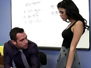 American, Brunette, Casting, Classroom, College, Condom, Desk, From Behind, Gorgeous, Hardcore,