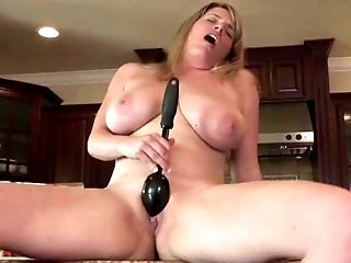 Big Natural Tits, Big Tits, Blonde, Jerking, Kitchen, Maggie Green, Masturbation, Nude, Solo,