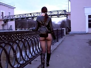 Ass, Big Ass, Flashing, Lingerie, Nature, Nude, Nylon, Outdoor, Pantyhose, Public,