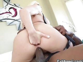 Anal Sex, Big Ass, Big Tits, Blonde, Facial, Horny, Interracial, Lexington Steele, Leya Falcon, Pornstar,