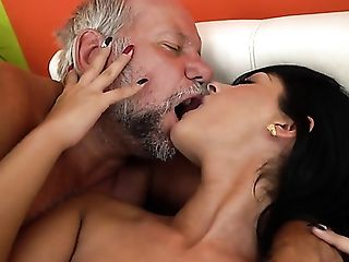 Blowjob, Brunette, Choking Sex, Creampie, Cum Swallowing, Cumshot, Deepthroat, Game, Grandpa, HD,