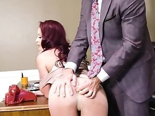 Big Tits, Blowjob, Boss, Business Woman, Cumshot, Facial, Fake Tits, Hardcore, HD, Mature,